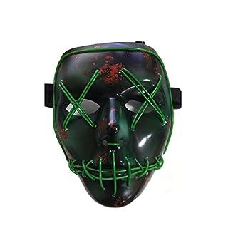 Erschreckend Draht Halloween Cosplay LED leuchten Maske für Festival Parteien, grün