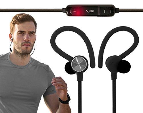Cuffie Bluetooth Smartz® Cuffie Multifunzione Wireless con Microfono e Vestibilità Sicura per Corsa, Palestra, Sport (Per iPhone, iPad, Samsung, Nexus, HTC, Kindle e Altri)