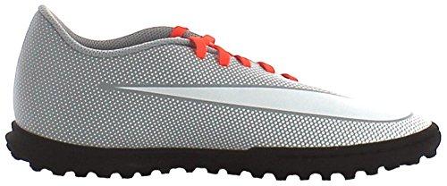Nike Bravatax Ii Tf, Chaussures de Football Homme Blanco (White / White-Wolf Grey-Total Crimson)
