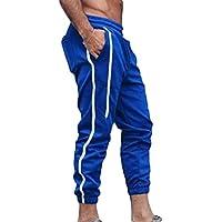 junkai Pantalones Deportivos Pantalones Deportivos con Cordón Fitness Moderno Gimnasio Gym Puños Elásticos Pantalones M-2XL