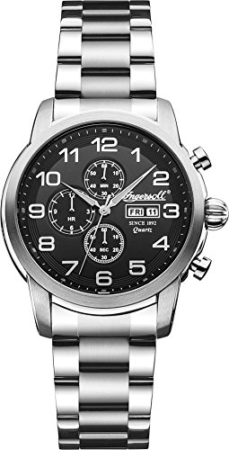 £193.50 Best Seller Ingersoll Quartz Men's Quartz Watch with Black Dial Analogue Display and Silver Stainless Steel Bracelet INQ018BKSL