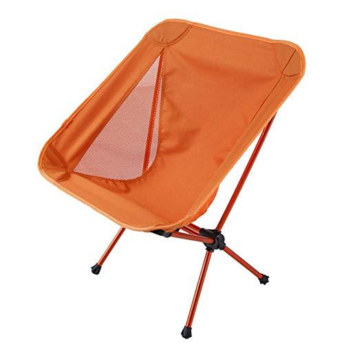Qiutianchen Camping Stuhl ultraleichten Gartenstuhl tragbaren Klappstuhl mit Rucksack Wandern Picknick Angeln Park Festival im Freien Strand und andere Tragetaschen@Orange