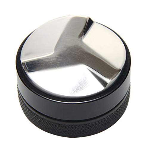 Hemore - dosatore di caffè, pressino per caffè in acciaio inox, livellatore di caffè, 3basi, per espresso, nero, 58mm