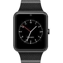 CHEREEKI Bluetooth Smartwatch con cámara soporta tarjeta SIM TF, Reloj de teléfono Pantalla táctil Reloj inteligente Podómetro Pulsera para teléfonos inteligentes Android