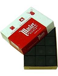 Tiza para Billar Master Negro, 12 unidades por caja