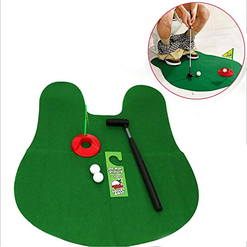 Haolv Toilette Mini Golf Potty Putter Badezimmer Spiel Neuheit Putting - WC Golf Set