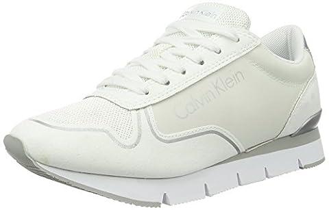 Calvin Klein Jeans Damen Tori Reflex Nylon/Microfiber Sneaker, Weiß (Wtw), 37 EU (Calvin Klein Sneakers)