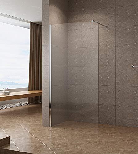 110x200cm Walk In Dusche 10mm Duschwand Glas Duschabtrennung Duschtrennwand Glastrennwand Glaswand mit NANO-Beschichtung
