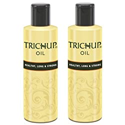 Trichup Healthy Long and Strong Hair Oil 200 ml, (Pack of 2) + FREE FACEWASH
