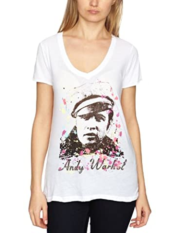 Andy Warhol - T-Shirt - Femme - Blanc (Factory Whte) - Taille L