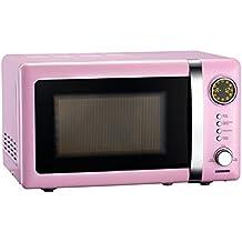 Rosa 700 W Microondas, 20 L, plato giratorio, Melissa Clásico Retro 16330112, rosa