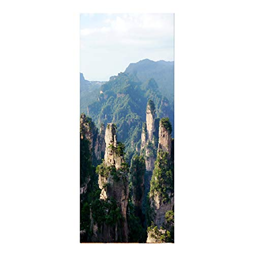 HEDDK 3D Türposter Selbstklebend Tür Wandbilder Aufkleber PVC Wasserdichte Bergkette Szenen DIY Selbstklebende Landschaft Wandbilder Schlafzimmer Wandaufkleber Poster Home Art Decor Tapete