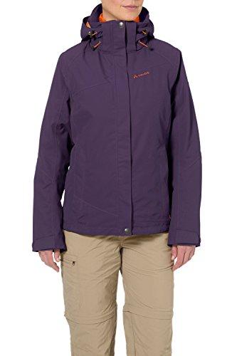 VAUDE Damen Tolstadh 3 in 1 Jacket, Elderberry, 42, 05288 -