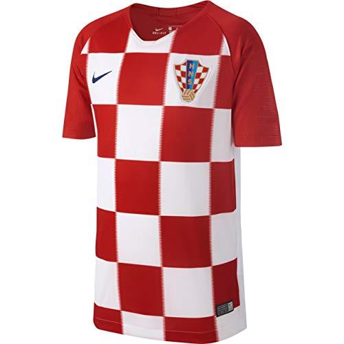 Nike Croacia Camiseta de Niños, Infantil, Kroatien, Rojo/Blanco, Large