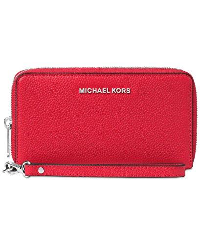 Michael Kors Mercer 32F6SM9E3L bright red Damen Tasche Handtasche Henkeltasche Abendtasche Handgelenktasche Clutch Smartphonetasche