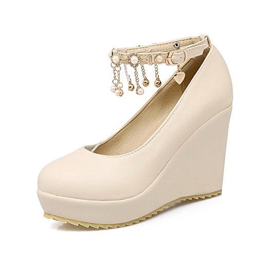 voguezone009-womens-round-closed-toe-buckle-pu-solid-high-heels-pumps-shoes-beige-43