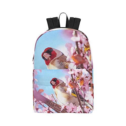 Europäischer Goldfinch Carduelis Vogel klassischer Netter wasserdichter Daypack sackt Schulehaus Kausale Rucksäcke Rucksäcke Bookbag für Kinderfrauen Männer Reisen mit Reißverschluss innerer Tasche