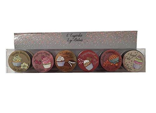 New Cupcake Flavoured Lip Balms Set of 6 Gift Set Xmas