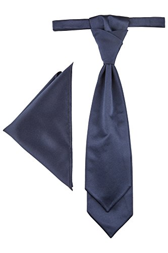 Krawattenplastron zur Hochzeitsweste Trevor von Wilvorst, Blau uni