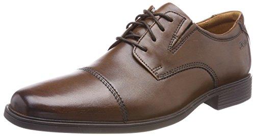 Schuhe Braun Clarks-herren (Clarks Herren Tilden Cap Derbys, Braun (Dark Tan Lea-), 46 EU)