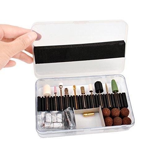 Preisvergleich Produktbild Ckeyin 174;32 Stück Professionelle elektrische Maschine Maniküre Pediküre Werkzeuge Nagelbohrer & Schleifbänder Sets Kit