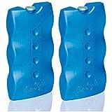 Gima 1609007 Confezione 2 Ghiaccio, Azzurro, 9.3 x 3.5 x 17.5cm, Set di 2