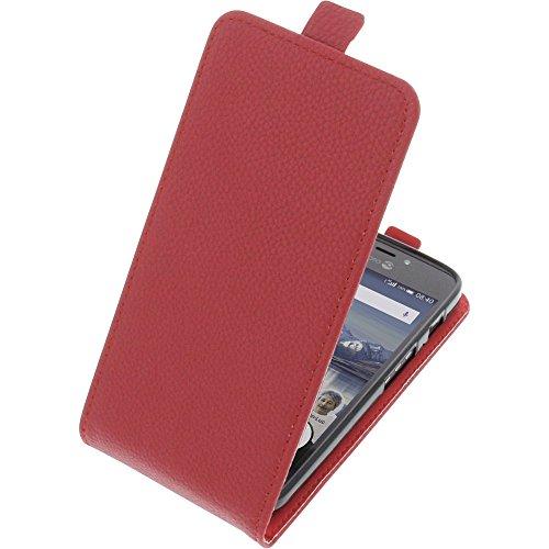 Tasche für Doro 8040 Smartphone Flipstyle Schutz Hülle rot