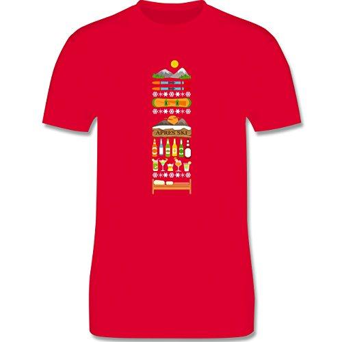 Après Ski - Apres Ski Tag - Herren Premium T-Shirt Rot