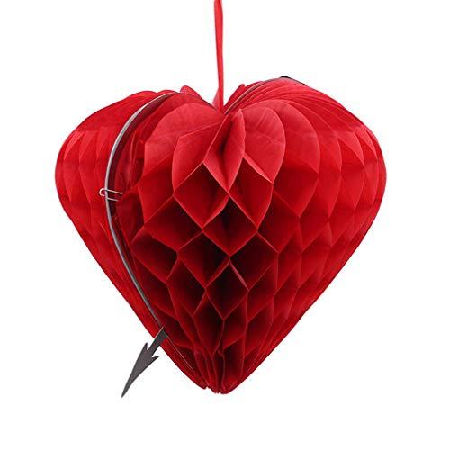 L_shop Hochzeit Herz Papier Anhänger Dekoration Jahrestag Hängen Anhänger Partei Liefert, 25 * 24,5 cm
