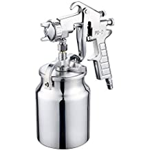 nuzamas succión Alimentación Aire Pistola De Spray de pintura inoxidable de 2.0mm boquilla 1000ml Capacidad aerógrafo pintura herramienta para coche muebles pintura mano pintura pulverizador