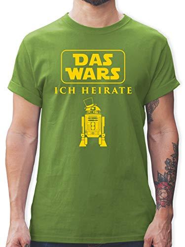 JGA Junggesellenabschied - Das Wars JGA Ich Heirate - M - Hellgrün - L190 - Herren T-Shirt und Männer Tshirt