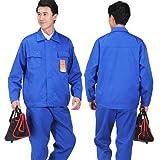TKFY Antistatische Arbeitskleidung antistatische Overalls Separate Anti-chemische Schutzfarbe Unisex,Blue,M