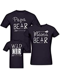 PepperClub Bear Family Tshirt - Set of 3 For Mom Dad and Kid