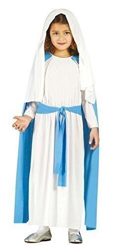 Jungfrau Kostüm Maria Mädchen - Fancy Me Mädchen Jungfrau Maria Weihnachten Krippenspiel Weihnachten Kostüm Kleid Outfit 3-12 Jahre - 7-9 Years