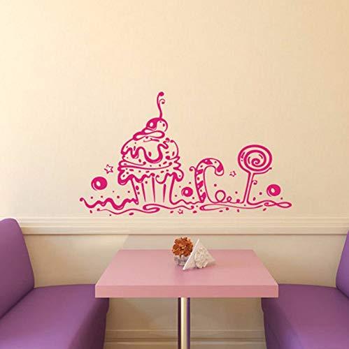 Dalxsh Wandtattoos Bäckerei Cafe Küche Dekor Süße Kuchen Cupcake Home Interior DesignKunstwand 30X60 Cm