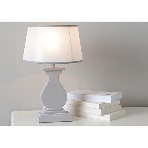 Amadeus - Lampe de salon grise à poser Elsa