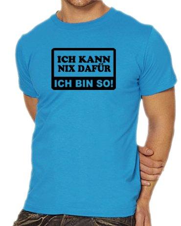 Touchlines Unisex/Herren T-Shirt Ich kann nix dafür - Ich bin so!, skyblue, XL, B1706