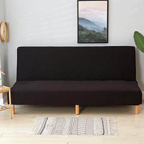Copridivano senza braccioli pieghevole divano singolo copridivano impermeabile copridivano universale imbottito a tre posti con rivestimento elastico nero