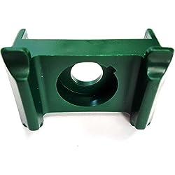 Klammer Doppelsteg, Zaunhalter, Zaunbau Halter, Doppelstabklammer, Stabmatten Halter, Grün Ral 6005 (50)