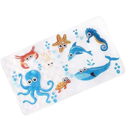 Anti-slip anti-slip for children, anti-bacterial anti-slip bathroom Bathroom sticker for kids, latex-free, 39cm / 15in * 70cm / 27in (dark blue)