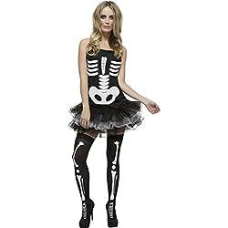 Smiffy's - Disfraz sexy de esqueleto para mujer, ideal para Halloween