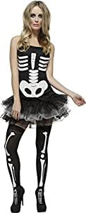 Skeleton Costume - Fever - Adult Fancy Dress Costume - Extra Small