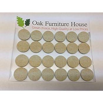 24 Oak Furniture Self Adhesive Felt Pads Wood Floor