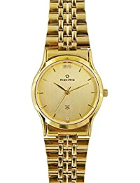 Maxima Formal Gold Analog Gold Dial Men's Watch - 16284CMGY