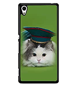 Printvisa Cat With A Green Hat Back Case Cover for Sony Xperia Z4::Sony Xperia Z4 E6553