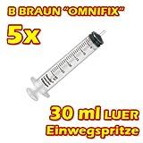 BBRAUN OMNIFIX 30ml 5 x B BRAUN - Spritze Einwegspritze mit Luer-Adapter