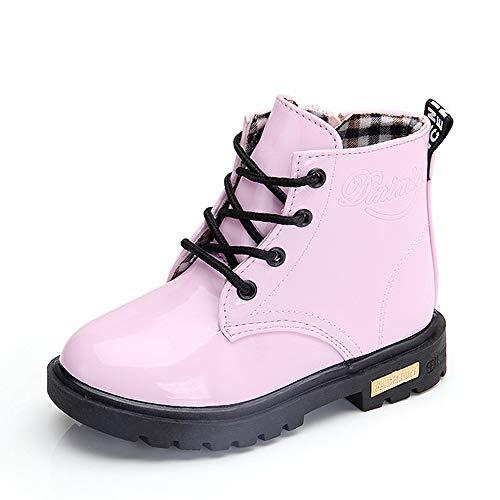 QZBAOSHU Schuhe Stiefel Stiefeletten Baby Mädchen Jungen Wasserdichte Schneeschuhe für 2-12 Jahre Alte 20 EU(Etikettengröße 21) Rosa: Plüsch innenner