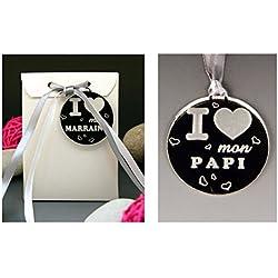 Boite de Chocolat I ♥ mon Papi - Cadeau Baptême, Noël...