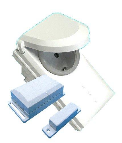 Funk Abluftsteuerung DFM-DGR Schutzart IP44 3600 W mit Fensterkontaktschalter und Funk-Zwischenstecker fertig codiert