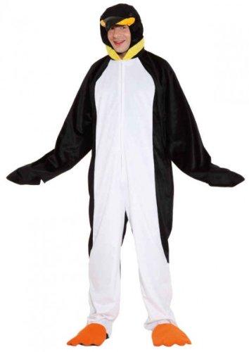 Ein Pinguin Kostüm - Kostüm Pinguin Overall für Damen Herren Fasching Karneval Eiszeit Pinguinkostüm